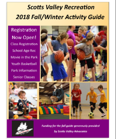 Fall Activity Guide 2018 Cover