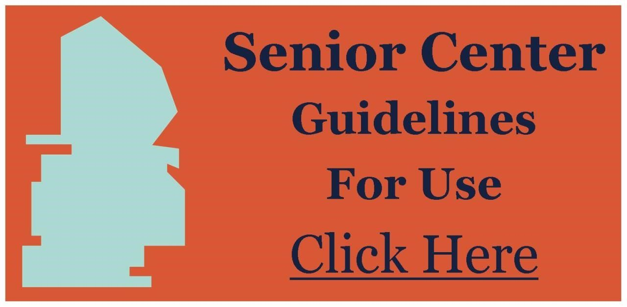 Senior Center Guidelines for Use Logo